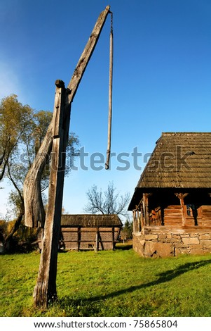 Romanian traditional architecture - stock photo
