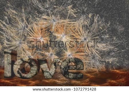 Romantic Art Design on Photoshop, Artwork of Love #1072791428