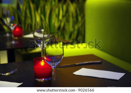 Romantic aura of the cosy restaurant