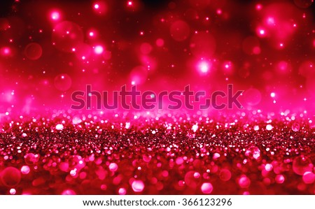 Romantic Background With Red Bokeh For Valentines Day And Christmas Holidays
