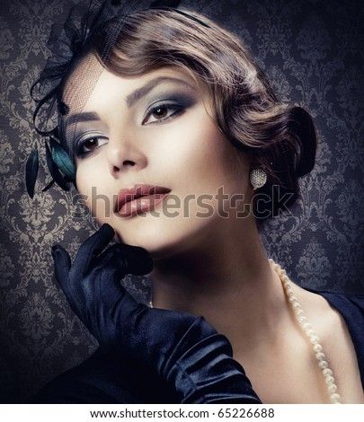 Romantic Beauty.Vintage Styled - stock photo