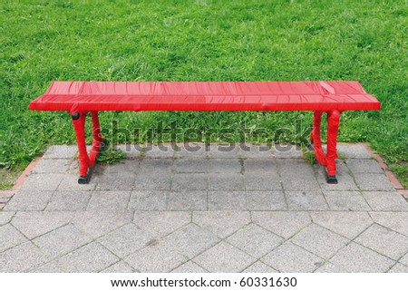 Romantic bench in the park