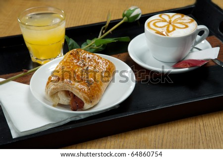 stock photo romantic breakfast with