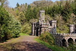 Romantic buildings of Ballysaggartmore towers near Lismore,Co.Waterford,Ireland