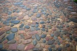 romantic Cobblestone pavement street background block brick