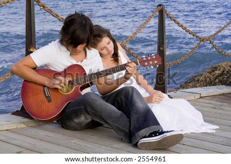 romantic couple - stock photo
