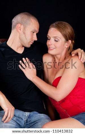 Couple seduce guy