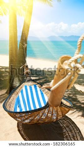 Romantic cozy hammock