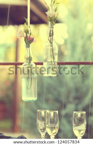 romantic decoration - stock photo