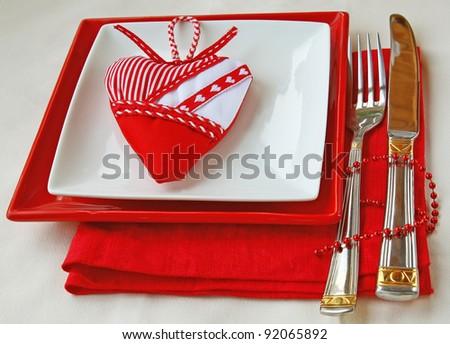 Romantic decoration of festive table