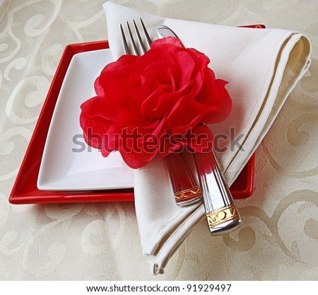 Romantic decoration of holiday table