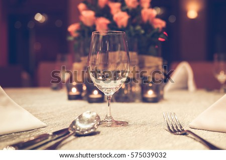 romantic dinner setting  with...