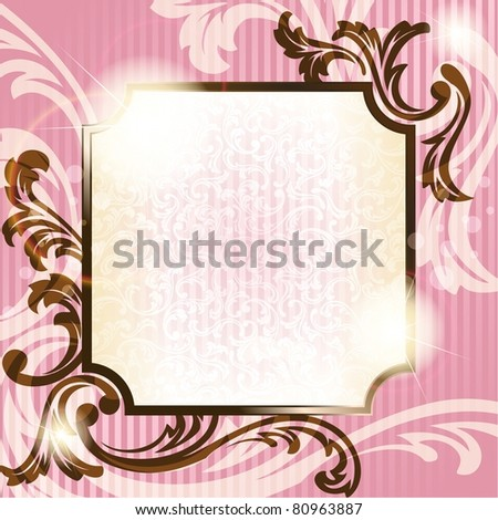 Romantic French retro background (jpg); vector version also available