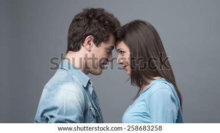 Man Kissing A Woman On The Forehead Images And Stock