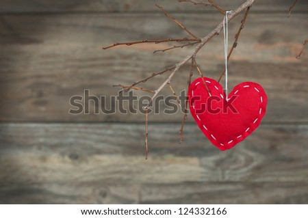 Romantic heart for Valentines Day