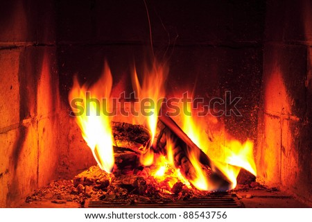 romantic home fire