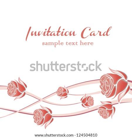 romantic invitation card with