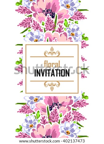Romantic invitation. Wedding, marriage, bridal, birthday, Valentine's day.  #402137473