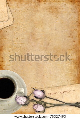 Romantic letter blank series vertical