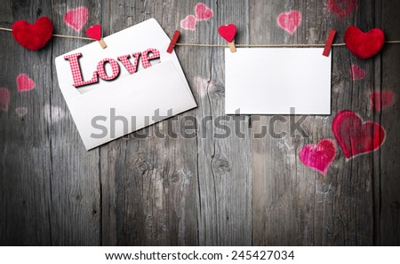 romantic letter - invitation and copy space for message