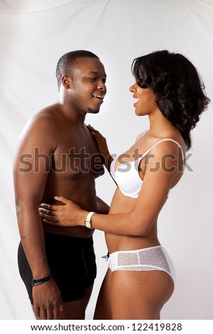 Picture Of Romantic Couple In Their Underwear Romantic-pic3594