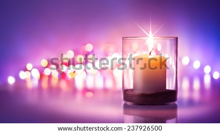Romantic night with candlelight and bokeh background.New year or romantic valentine Day  - Shutterstock ID 237926500