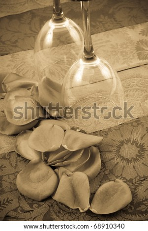 Romantic Occasion for Two Conceptual Sepia Image