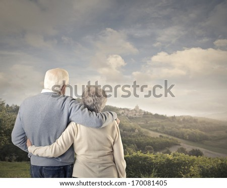 Romantic Old Couple