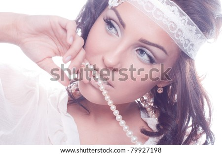 Romantic picture of a beautiful young woman