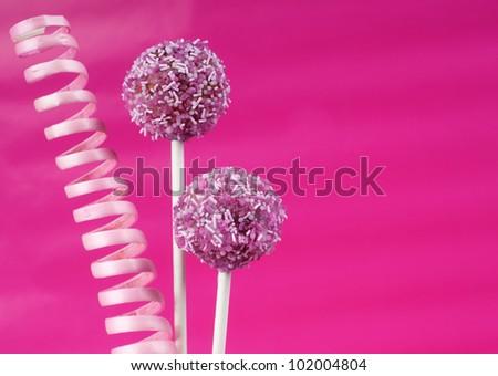 romantic pink cake pops with swirl