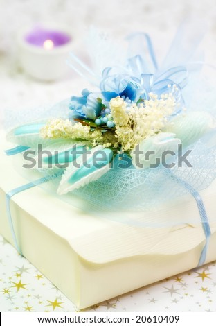 Romantic present with handsome bow