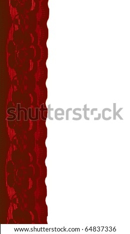 romantic red lace can be used as web element - stock photo