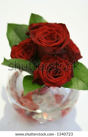 stock photo Romantic red roses centerpiece arrangement