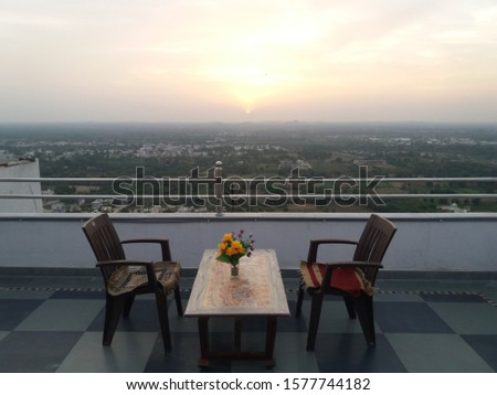 romantic rooftop dinner for two