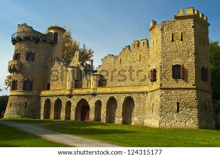 romantic ruin of Lichtenstein castel