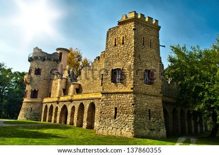 romantic ruin of Lichtenstein castel