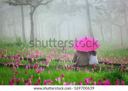 romantic Scene of love couples