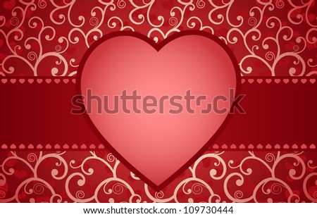 Romantic seamless card or frame with place for text