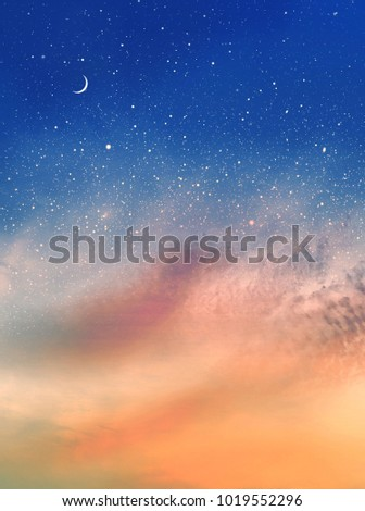 Romantic sky background #1019552296