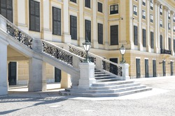 romantic stairs on a baroque castle