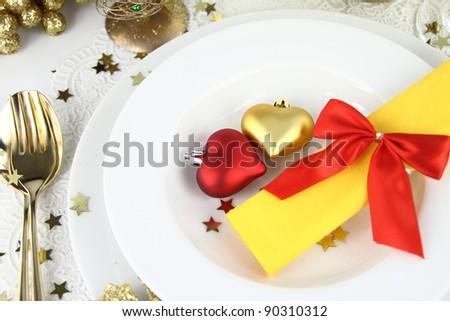 Romantic table decoration