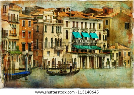 romantic Venice - artwork in painting style