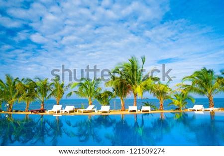 Romantic Villa Holiday Lifestyle - stock photo