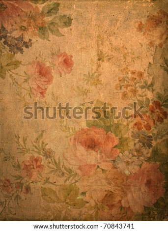 Romantic vintage rose background - stock photo