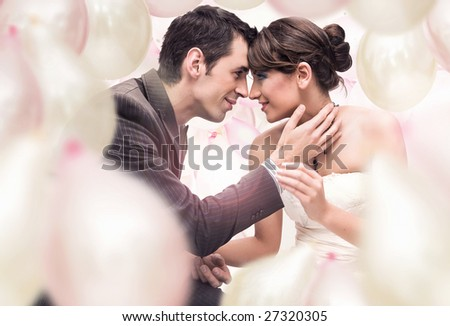 Romantic wedding picture