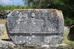 ROME 2012 - Ancient Roman inscription