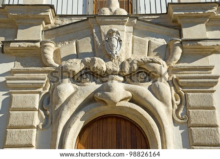 Rome building decoration - stock photo
