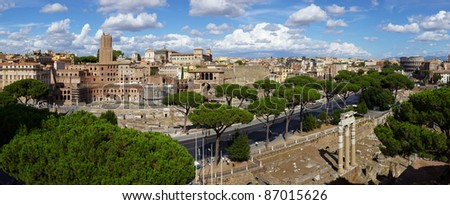 Rome Cityscape , Italy. - stock photo