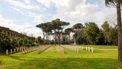 Rome. Commonwealth War Cemetery, built after the entry of the Allied force into Rome in June 1944. It contains 426 Commonwealth graves from the WWII.