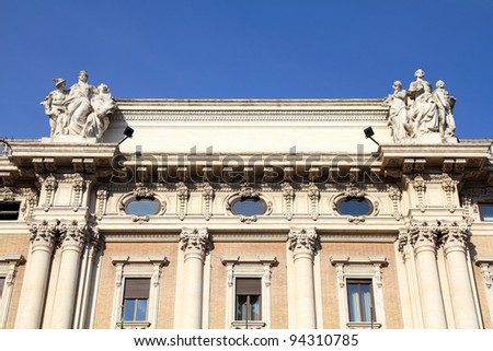 Rome - famous Alberto Sordi gallery, exquisite luxury shopping mall of Italian capital city - stock photo